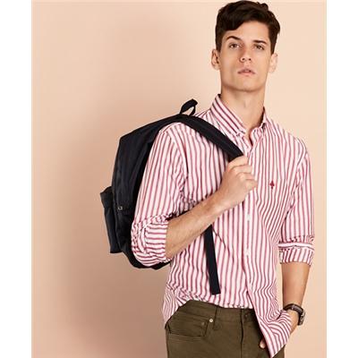 Brooksbrothers Striped Poplin Sport Shirt