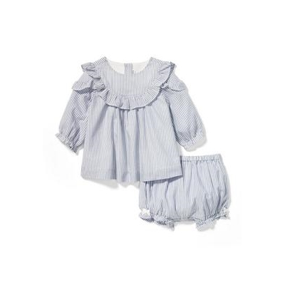Janie and Jack Striped Ruffle Matching Set