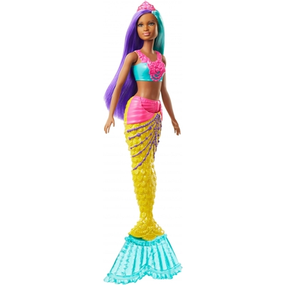 Barbie Dreamtopia Mermaid Doll, 12-Inch, Teal And Purple Hair