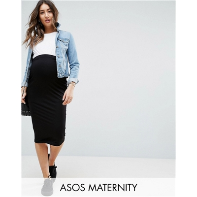 ASOS Maternity ASOS DESIGN Maternity jersey pencil skirt