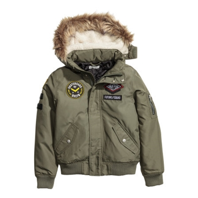 H&M Bomber Jacket with Patches