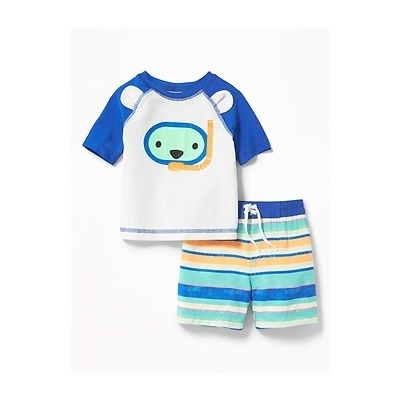 Oldnavy Graphic Rashguard & Printed Trunks Set for Baby 20% Off Taken at Checkout