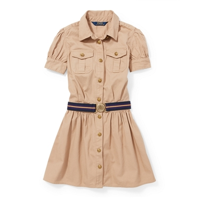 Polo Ralph Lauren Belted Cotton Chino Shirtdress