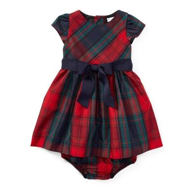 Polo Ralph Lauren Tartan Taffeta Dress & Bloomer