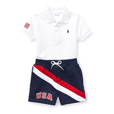 Polo Ralph Lauren Cotton Polo & Short Set