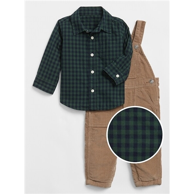 Gap Baby Overalls Outfit Set