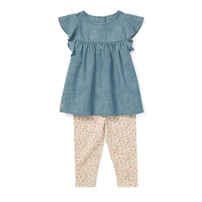 Polo Ralph Lauren Chambray Top & Legging Set