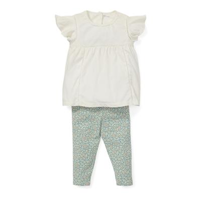 Polo Ralph Lauren Lace Top & Floral Legging Set