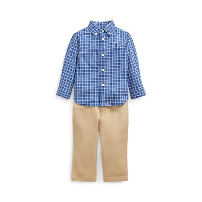Polo Ralph Lauren Plaid Shirt, Belt & Pant Set