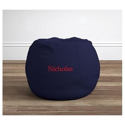 Potterybarn Navy Anywhere Beanbag Slipcover Only