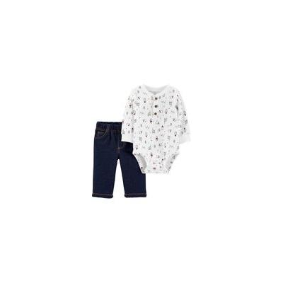Carters 2-Piece Winter Henley Bodysuit Pant Set