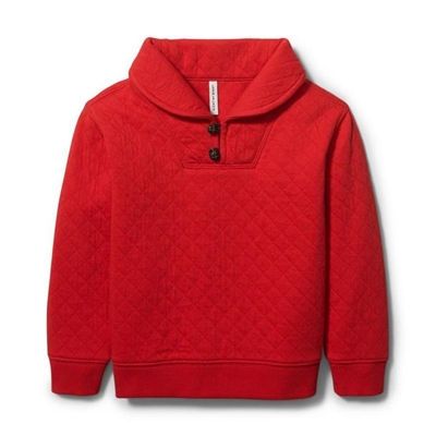 Janie and Jack Quilted Shawl Collar Sweatshirt