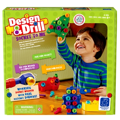 Learning Resources Educational Insights Design & Drill Socket to Me, 35 Pieces