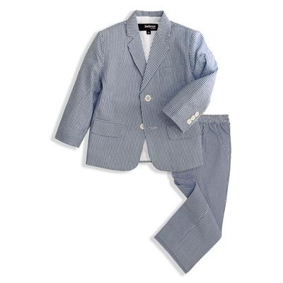 Gino Giovanni Boys Seersucker 2 Button Suit Set