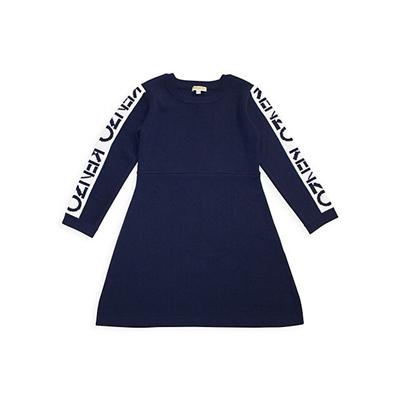 Kenzo Little Girls & Girls Logo Sweater Dress