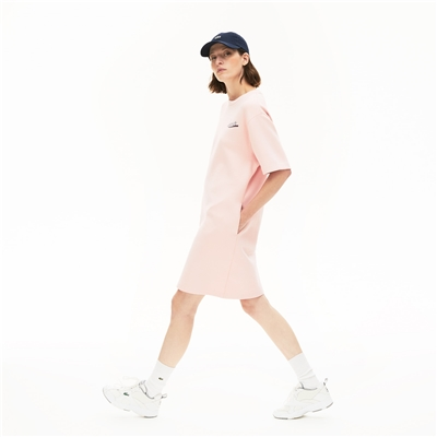 Lacoste Womens Signature Print T-Shirt Dress