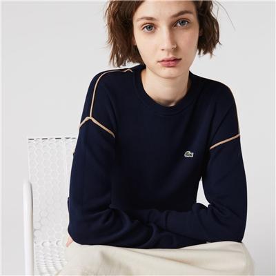 Lacoste Women's Crewneck Cotton Sweater