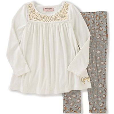 Juicy Couture Girls Satin Tunic with Pants Set