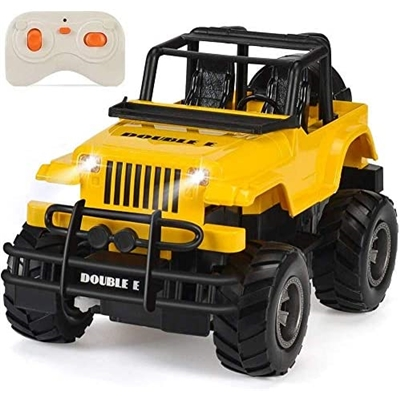 DOUBLE E RC Toy Trucks 1:20 Remote Control Car Rechargeable with Lights Convertible Buggy for Kids 8-12 Age