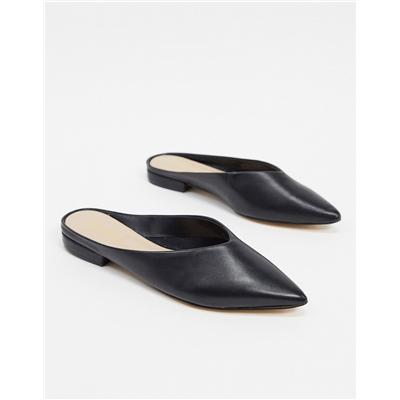 ALDO Nirasa mule flat shoe in black leather