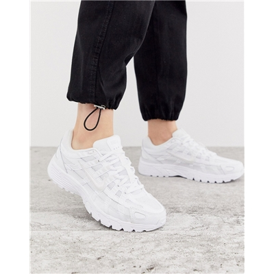 Nike P6000 Sneakers in triple white