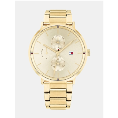 TOMMY HILFIGER Gold Casual Watch with Sub-Dials
