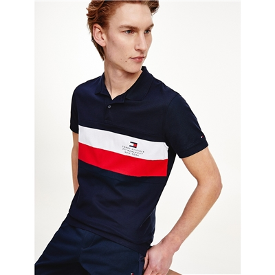 TOMMY HILFIGER Slim Fit Chest Stripe Polo