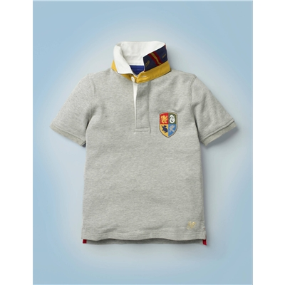 Boden Hogwarts Heritage Rugby Shirt - Grey Marl