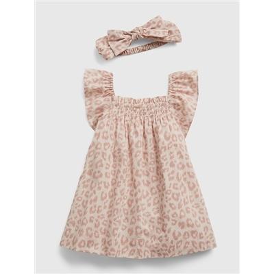 Gap Baby Leopard Print Dress with Headband