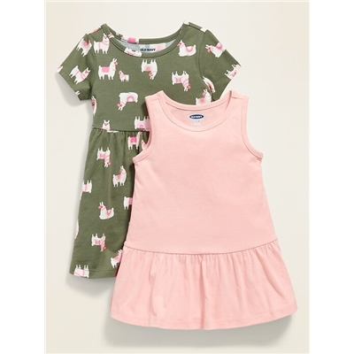 Jersey-Knit Dress 2-Pack for Baby