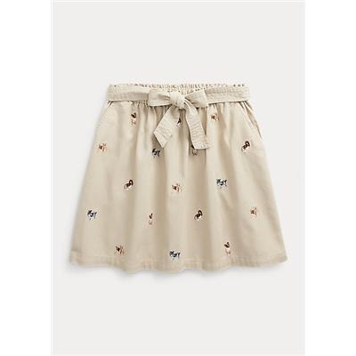 Dog Cotton Twill Skirt