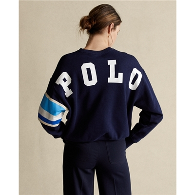 Polo Ralph Lauren Striped-Trim Fleece Sweatshirt