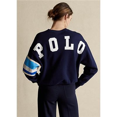 Polo Ralph Lauren Striped Trim Fleece Sweatshirt