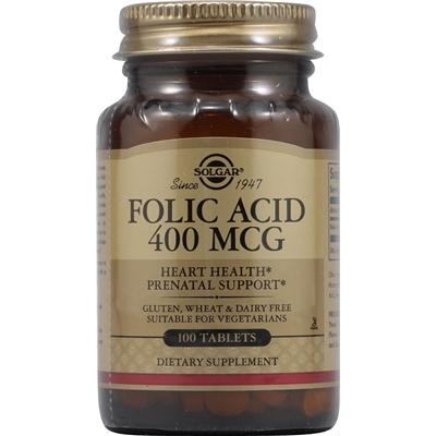 Solgar Folic Acid -- 400 mcg - 100 Tablets