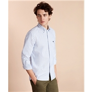 Brooksbrothers Striped Cotton Oxford Sport Shirt