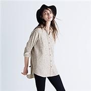 Madewell Flannel Oversized Ex-Boyfriend Shirt in Mick Stripe