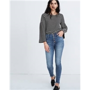 Madewell 10 High-Rise Skinny Jeans in Cordova Wash: Button-Front Edition