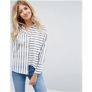New Look Stripe Deconstructed Shirt