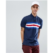 Tommy Hilfiger Andrew Icon Chest Stripe Slim Fit Polo in Navy