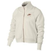 Nike Rose Gold Metallic Air Track Jacket - Womens