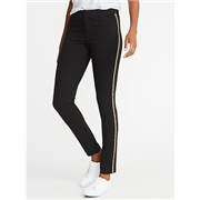 Oldnavy Mid-Rise Ponte-Knit Side-Stripe Pixie Ankle Pants for Women Best Seller