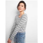 Gap Ribbed U-Neck Pullover Sweater