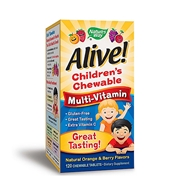 GNC Natures Way Alive! Childrens Chewable Multi-Vitamin - Natural Orange and Berry Flavors