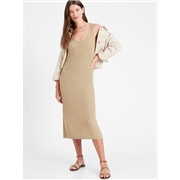 Bananarepublic Linen-Blend Ribbed Sweater Dress