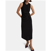 Theory Draped Tuck Dress in Crepe