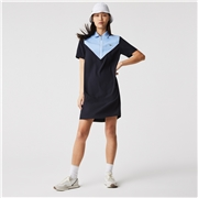 Lacoste Women's Zip-Collar Colorblock Polo Dress