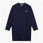 Lacoste Womens SPORT Crew Neck Cotton Sweatshirt Dress