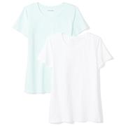 Amazon+Essentials Amazon Essentials Womens 2-Pack Short-Sleeve Crewneck T-Shirt