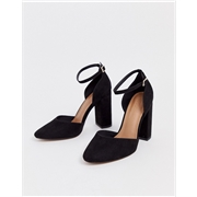 ASOS DESIGN Pleasant high block heels in black