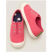 Boden Laceless Canvas Pull-ons - Bright Camelia Pink